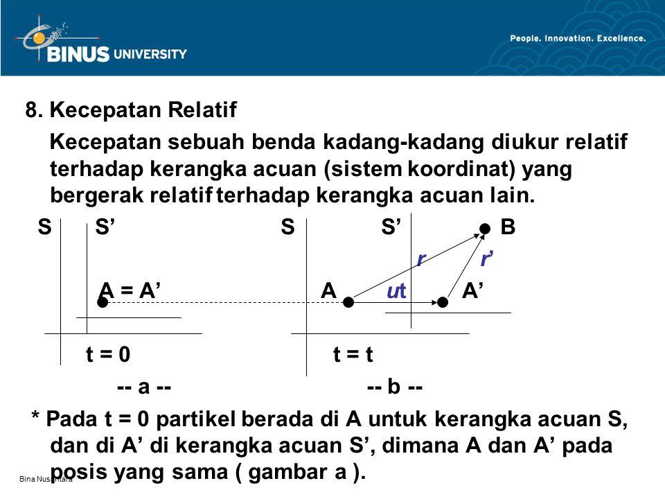 8. Kecepatan Relatif