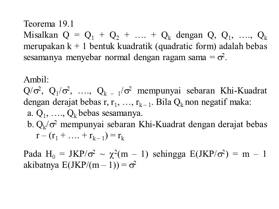 Teorema 19.1