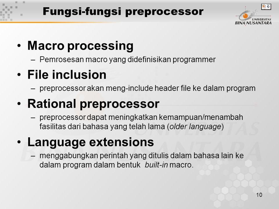 Fungsi-fungsi preprocessor