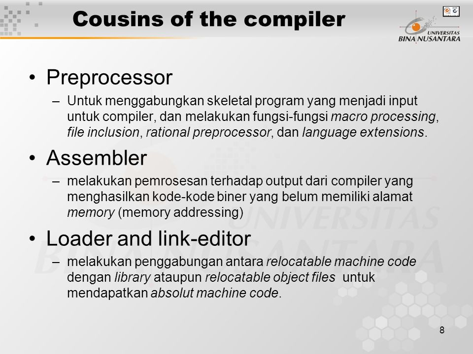 Cousins of the compiler