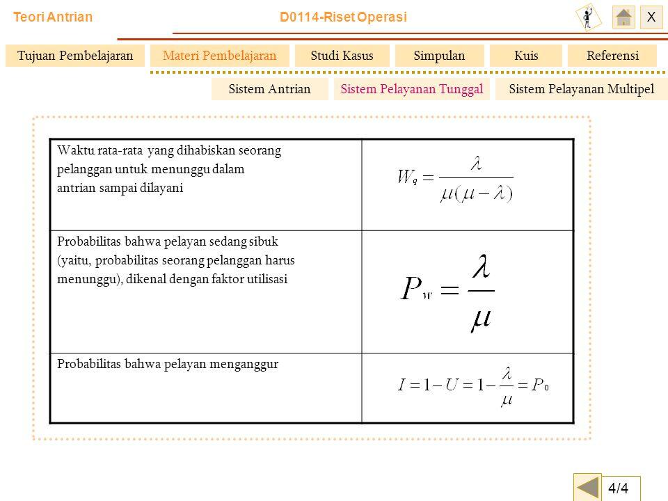 4/4 Tujuan Pembelajaran Materi Pembelajaran Studi Kasus Simpulan Kuis