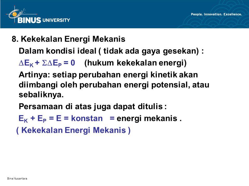 8. Kekekalan Energi Mekanis