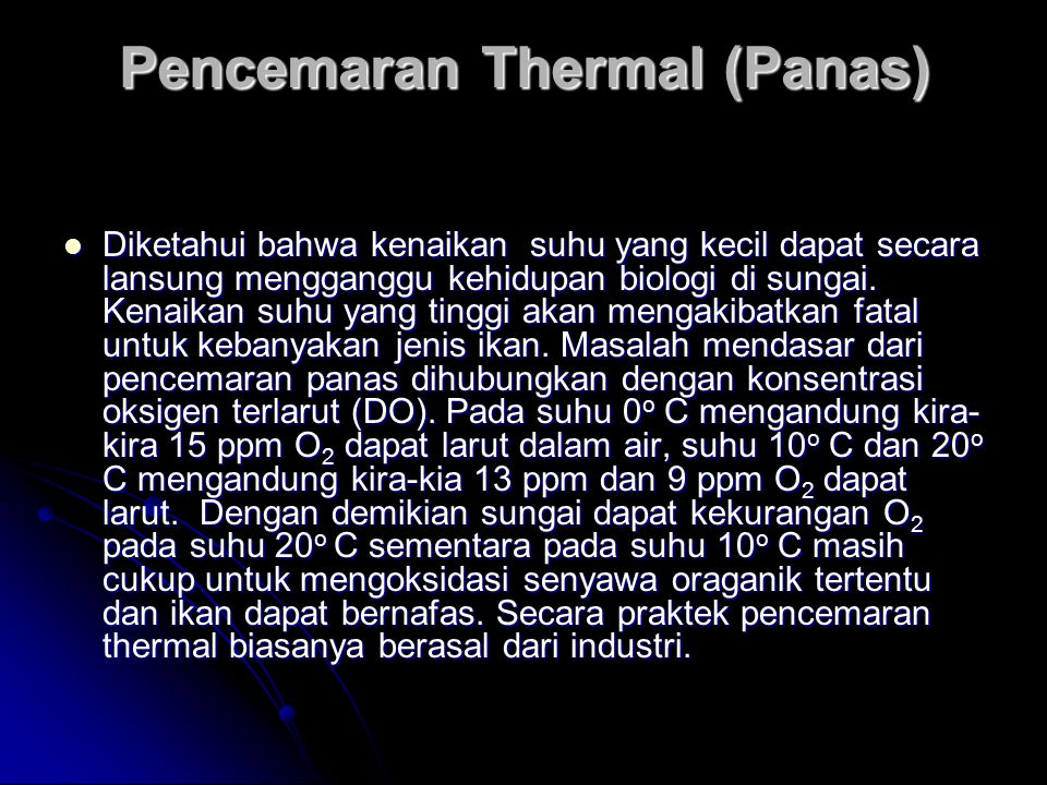 Pencemaran Thermal (Panas)