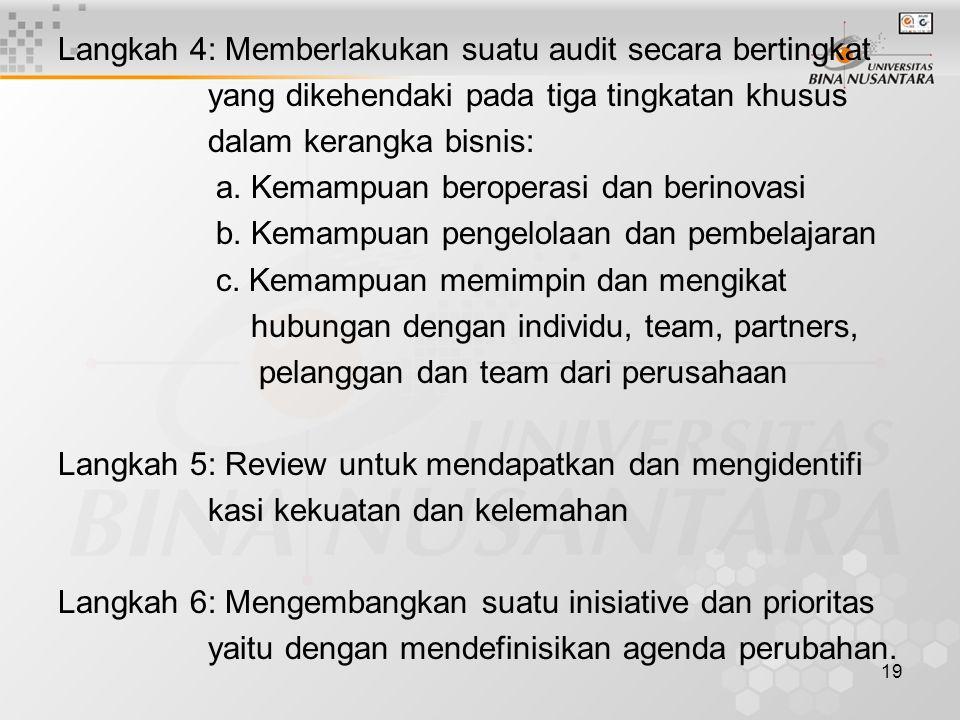 Langkah 4: Memberlakukan suatu audit secara bertingkat