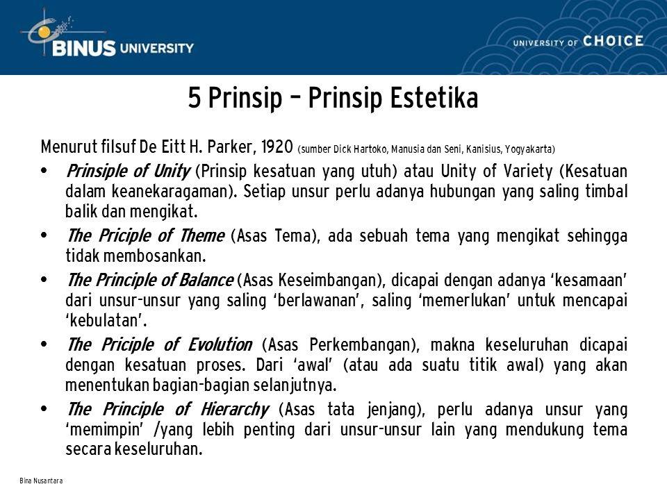 5 Prinsip – Prinsip Estetika