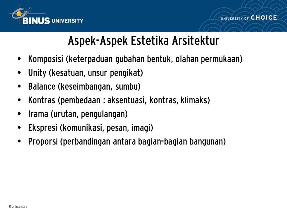 Aspek-Aspek Estetika Arsitektur