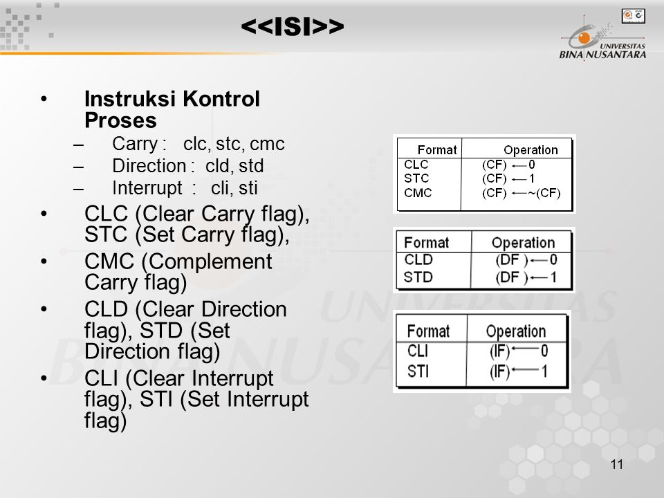 <<ISI>> Instruksi Kontrol Proses