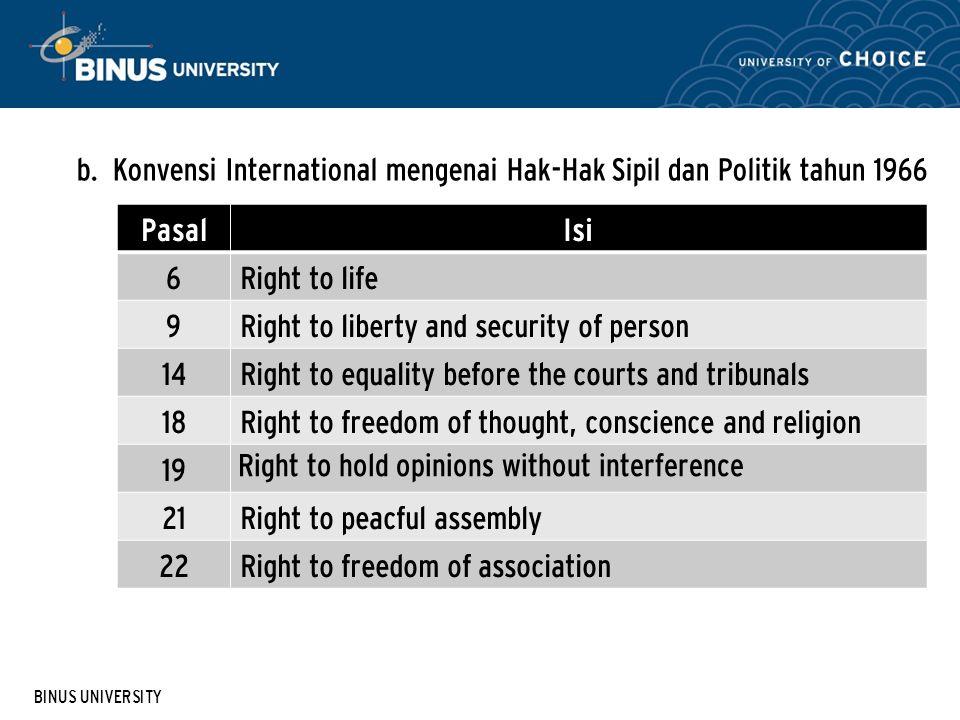 Konvensi International mengenai Hak-Hak Sipil dan Politik tahun 1966