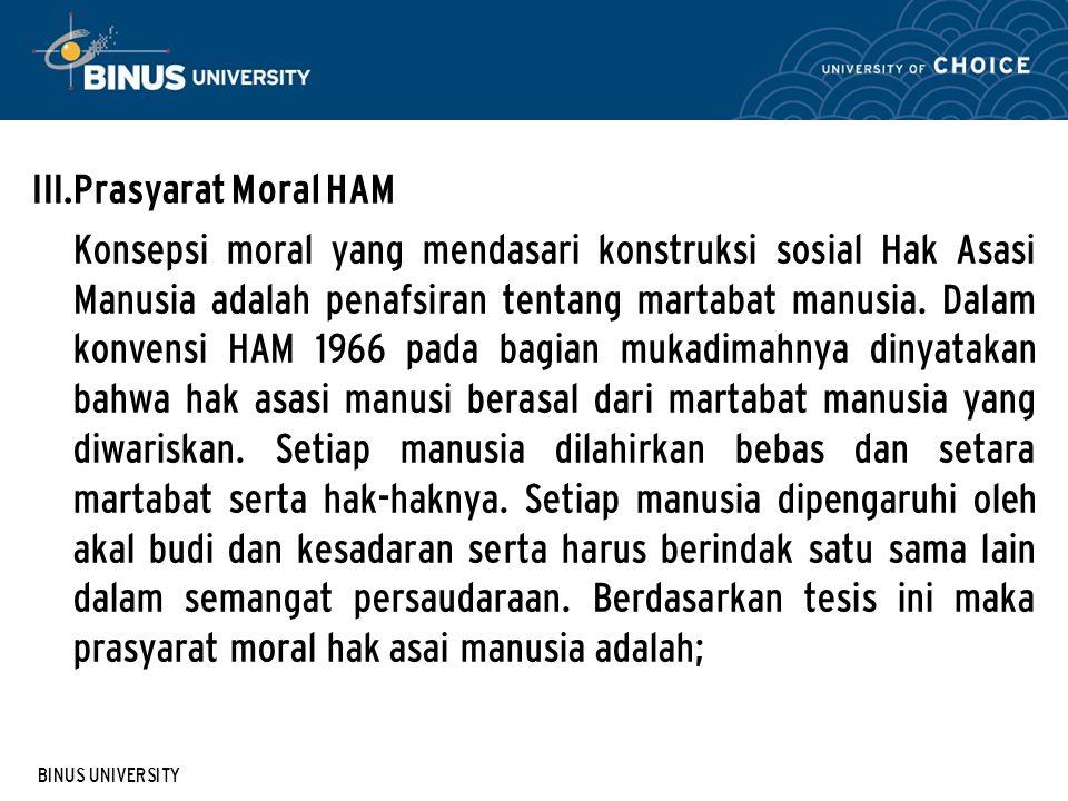 Prasyarat Moral HAM
