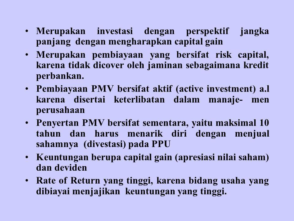 Merupakan investasi dengan perspektif jangka panjang dengan mengharapkan capital gain
