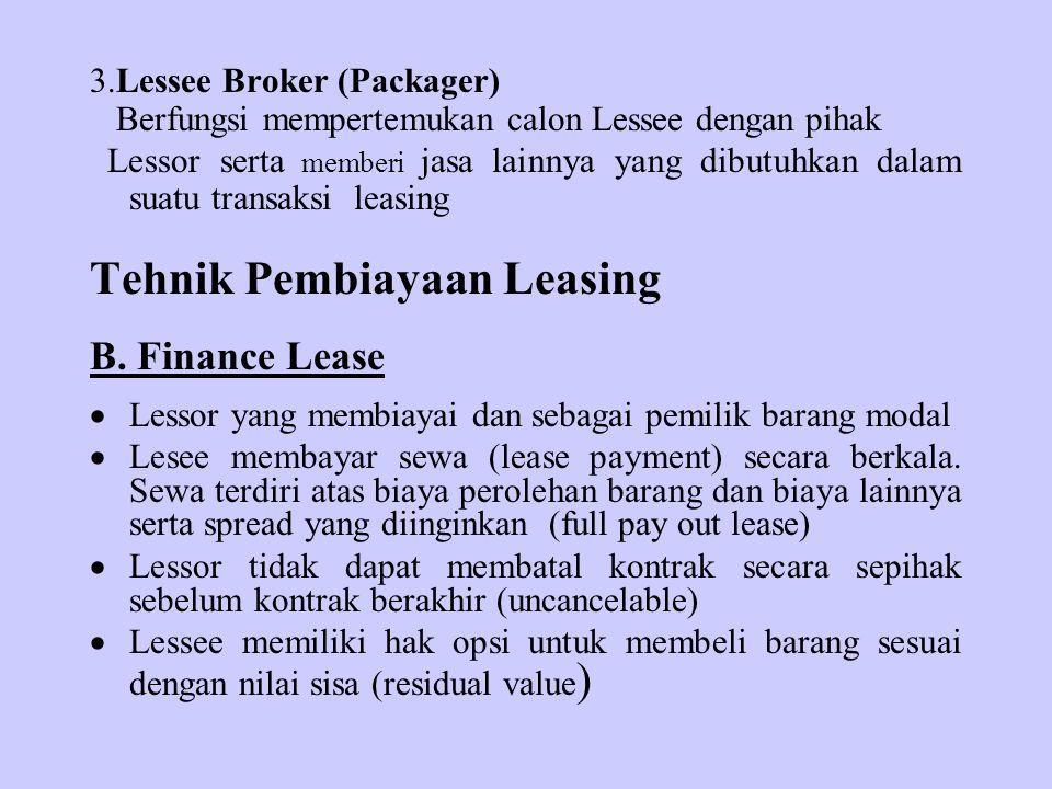 Tehnik Pembiayaan Leasing