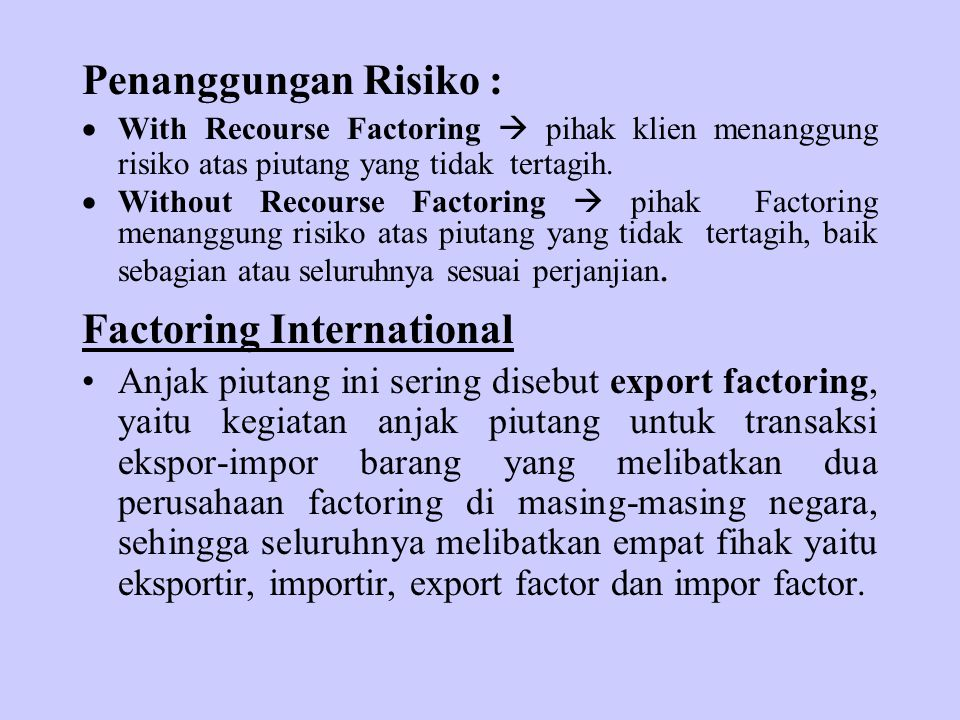 Factoring International