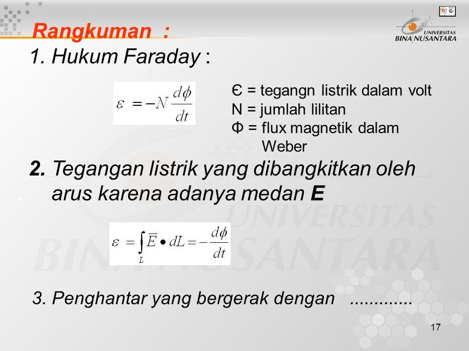 Rangkuman : . 1. Hukum Faraday :