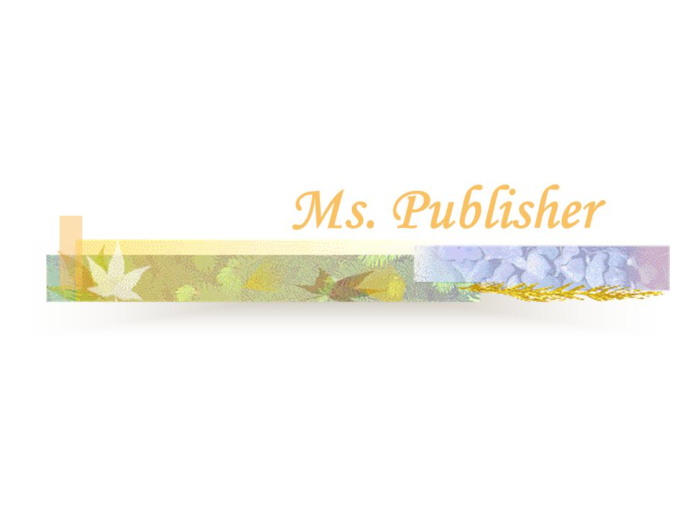 Pokok Bahasan 10 - 11 Ms. Publisher