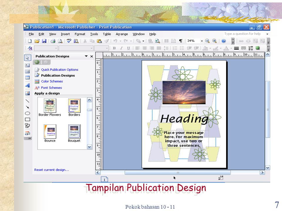 Tampilan Publication Design