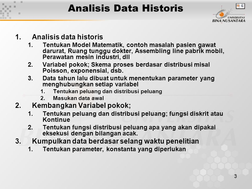 Analisis Data Historis