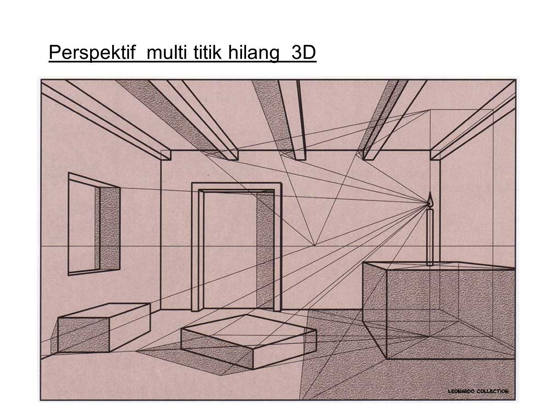 Perspektif multi titik hilang 3D