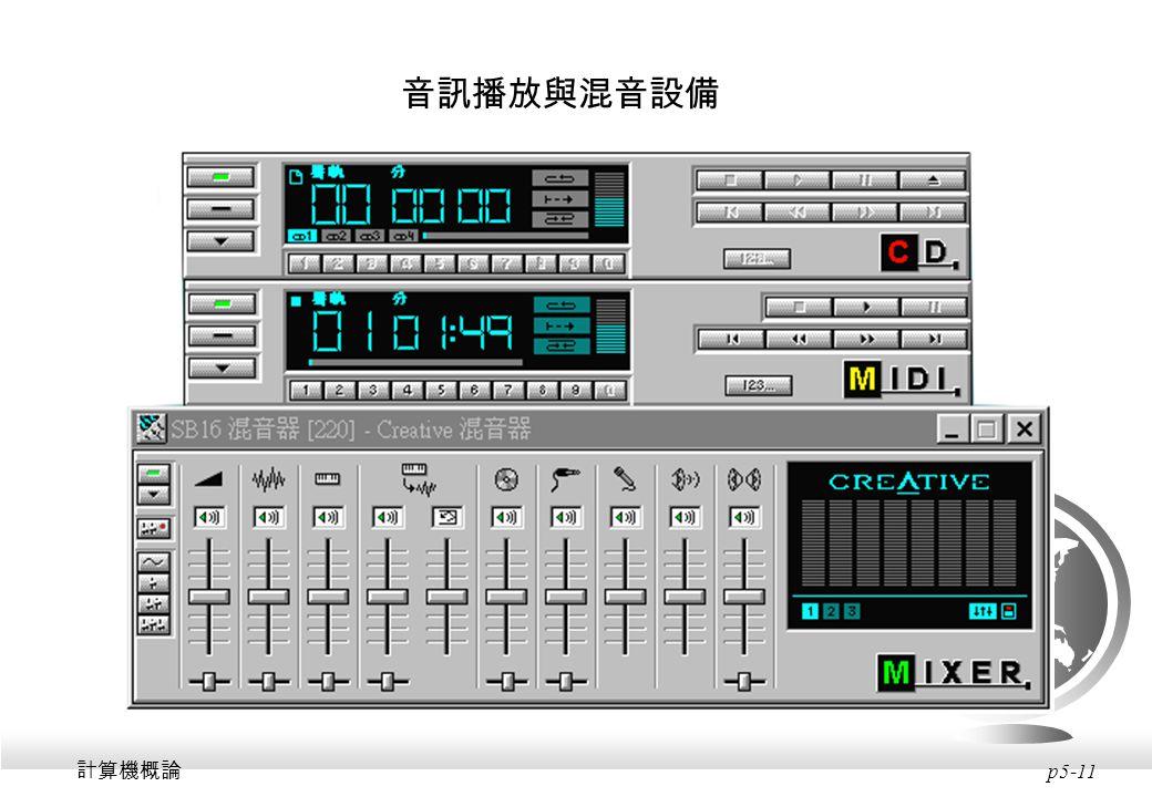 音訊播放與混音設備 計算機概論