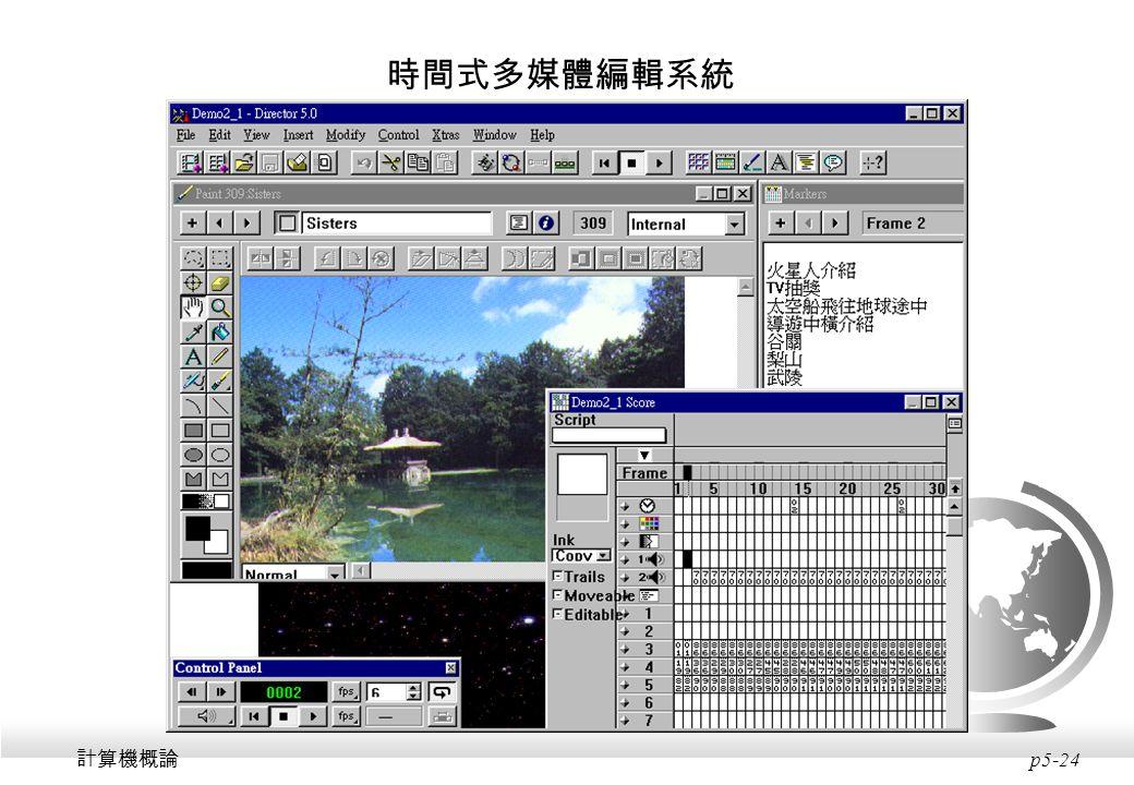時間式多媒體編輯系統 計算機概論