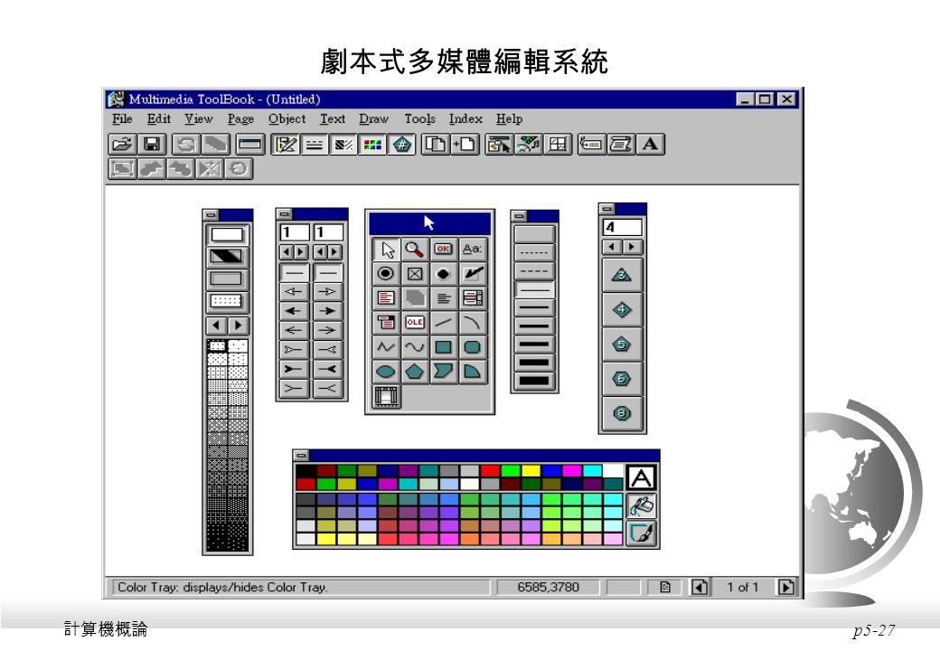 劇本式多媒體編輯系統 計算機概論