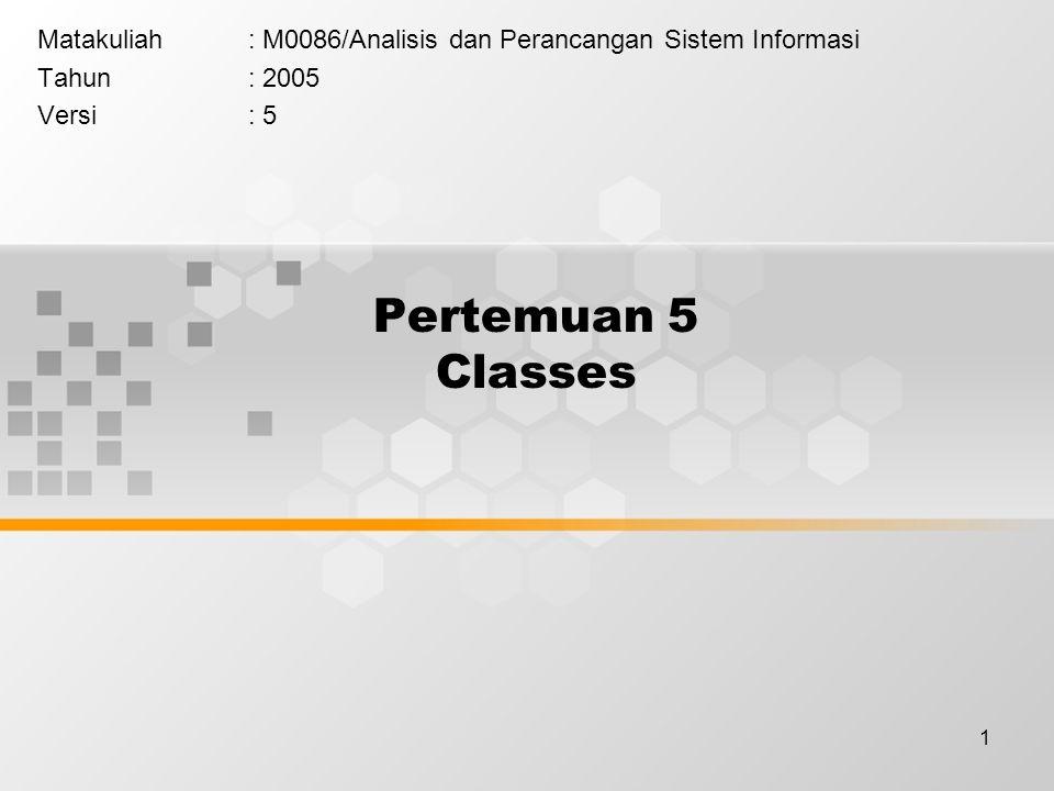 Matakuliah : M0086/Analisis dan Perancangan Sistem Informasi