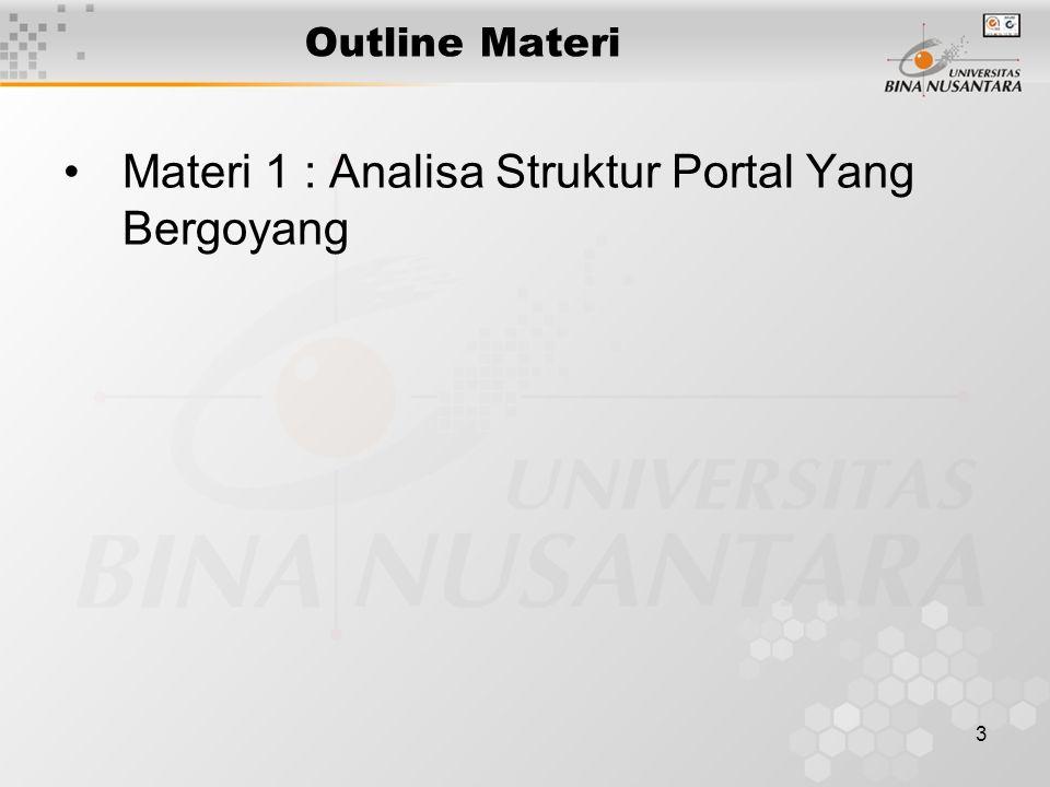Materi 1 : Analisa Struktur Portal Yang Bergoyang