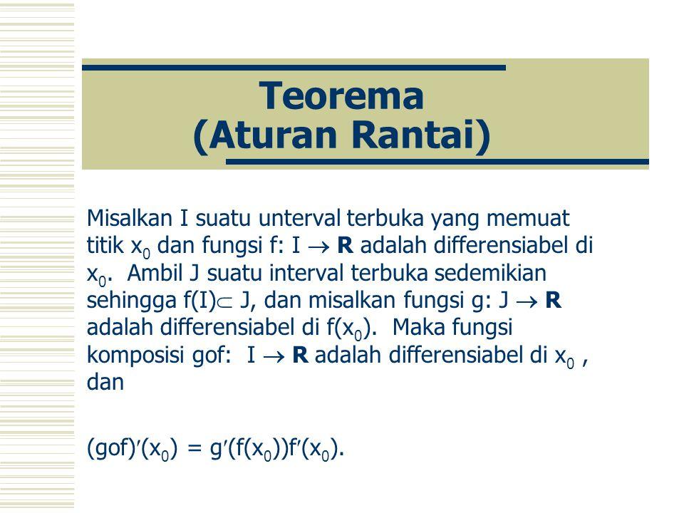 Teorema (Aturan Rantai)