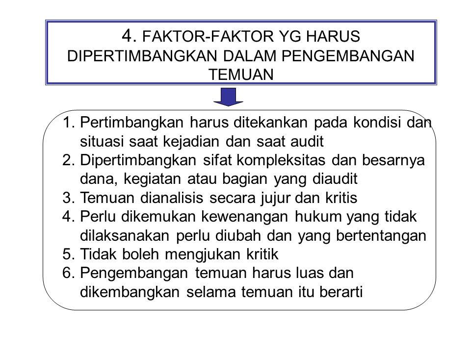 4. FAKTOR-FAKTOR YG HARUS DIPERTIMBANGKAN DALAM PENGEMBANGAN TEMUAN
