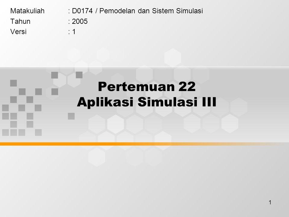 Pertemuan 22 Aplikasi Simulasi III