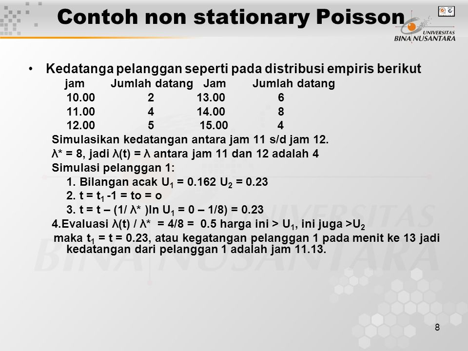 Contoh non stationary Poisson