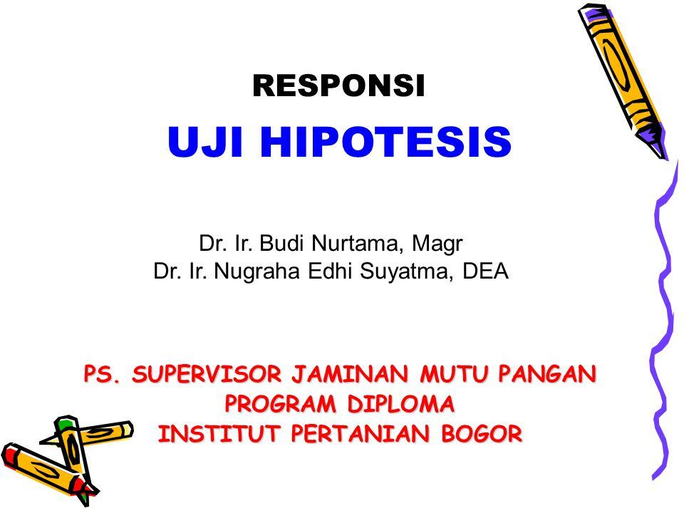 PS. SUPERVISOR JAMINAN MUTU PANGAN INSTITUT PERTANIAN BOGOR