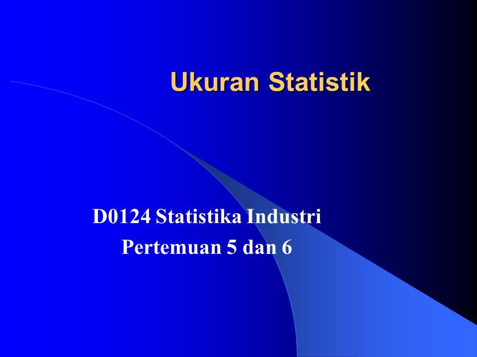 D0124 Statistika Industri Pertemuan 5 dan 6