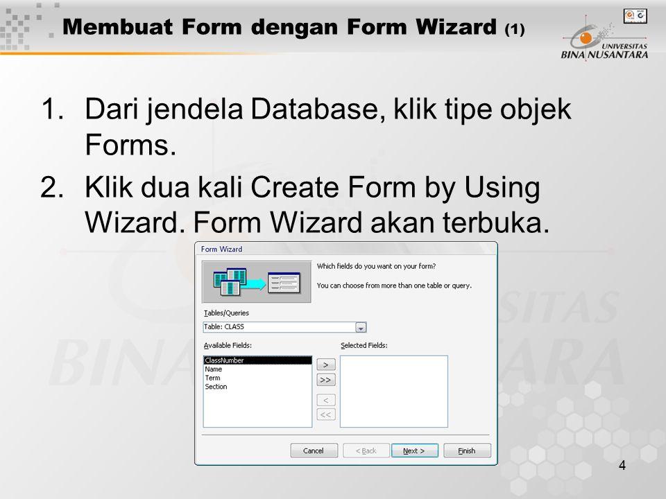 Membuat Form dengan Form Wizard (1)