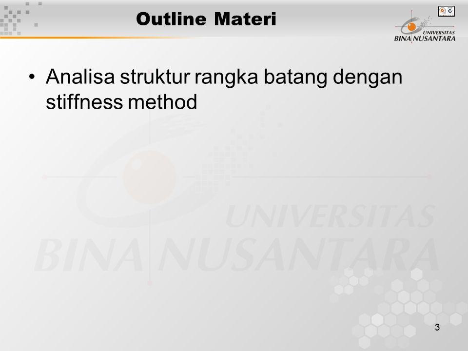 Analisa struktur rangka batang dengan stiffness method