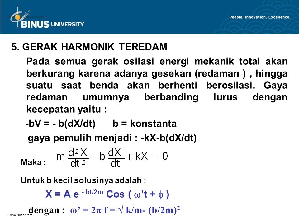 5. GERAK HARMONIK TEREDAM
