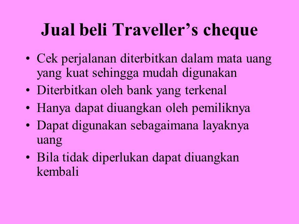 Jual beli Traveller's cheque