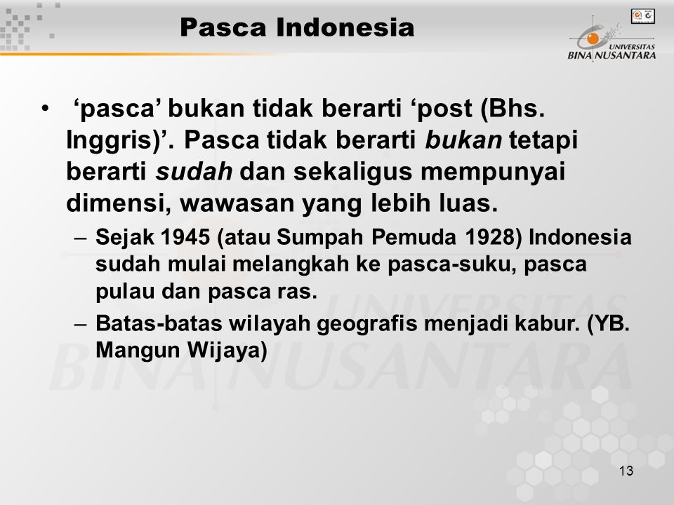 Pasca Indonesia