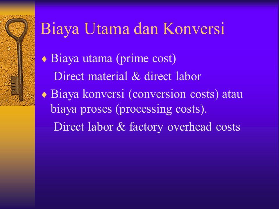 Biaya Utama dan Konversi
