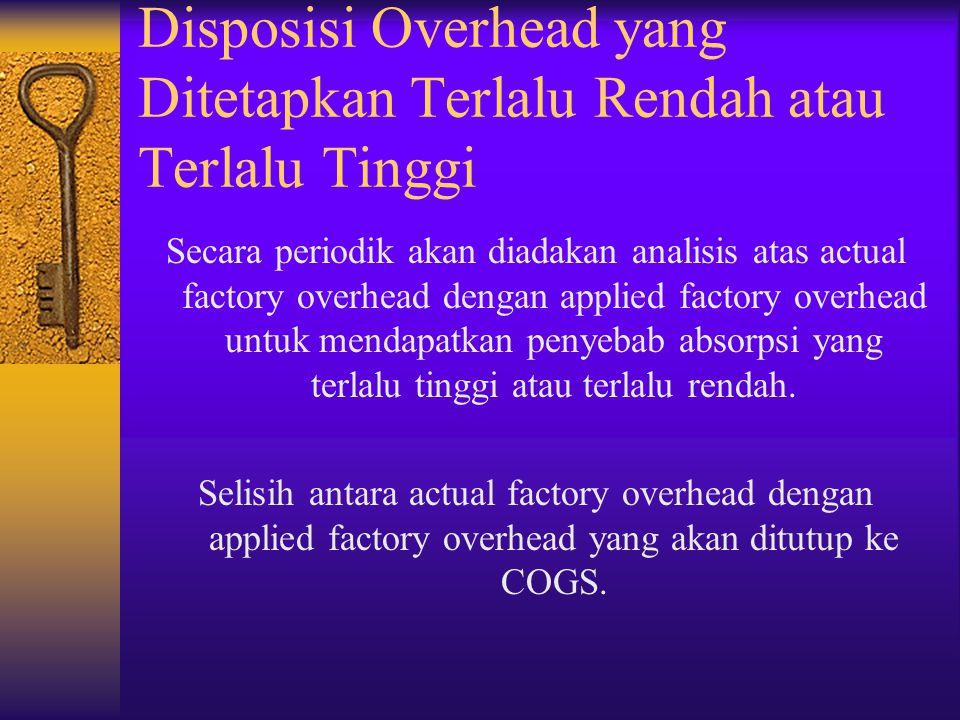 Disposisi Overhead yang Ditetapkan Terlalu Rendah atau Terlalu Tinggi