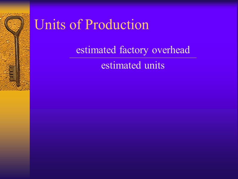 estimated factory overhead