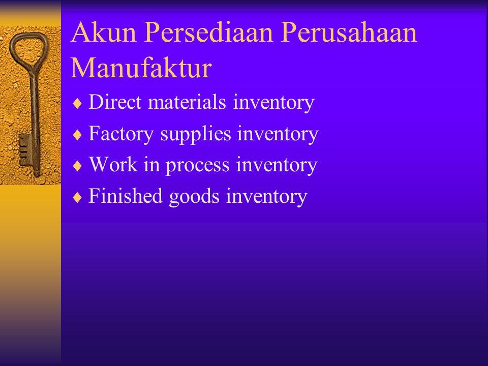 Akun Persediaan Perusahaan Manufaktur