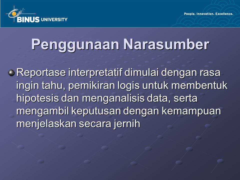 Penggunaan Narasumber