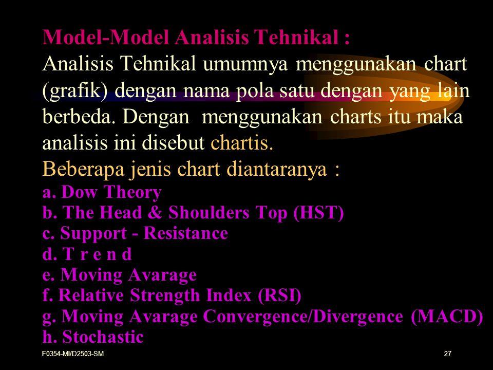 Model-Model Analisis Tehnikal :