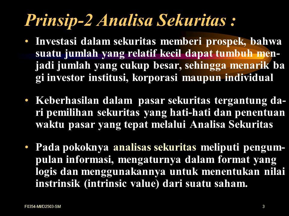 Prinsip-2 Analisa Sekuritas :