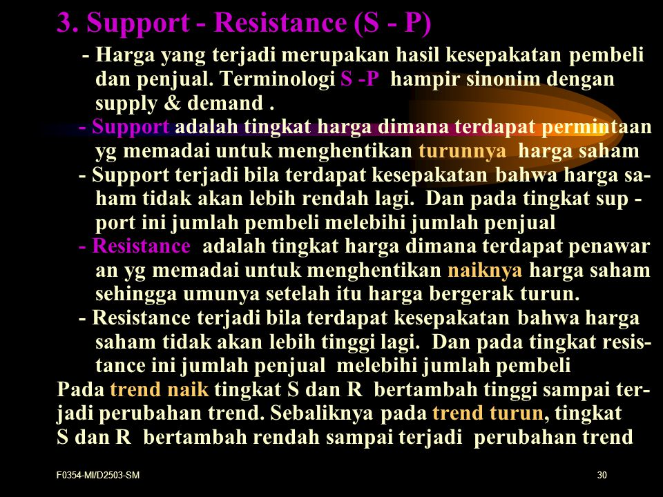3. Support - Resistance (S - P)