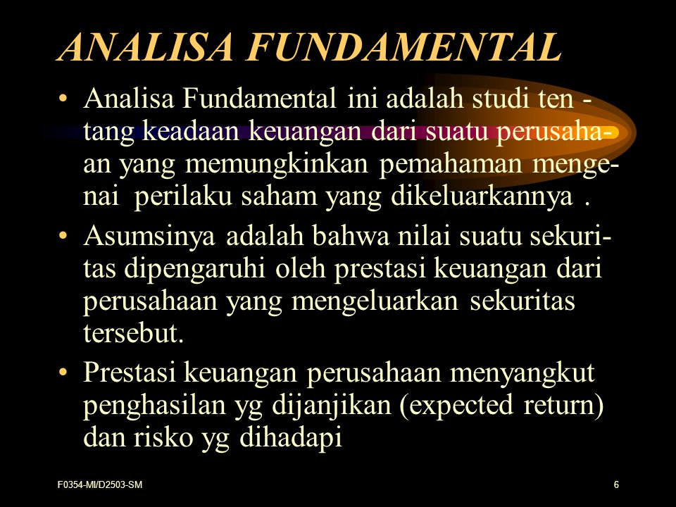 ANALISA FUNDAMENTAL
