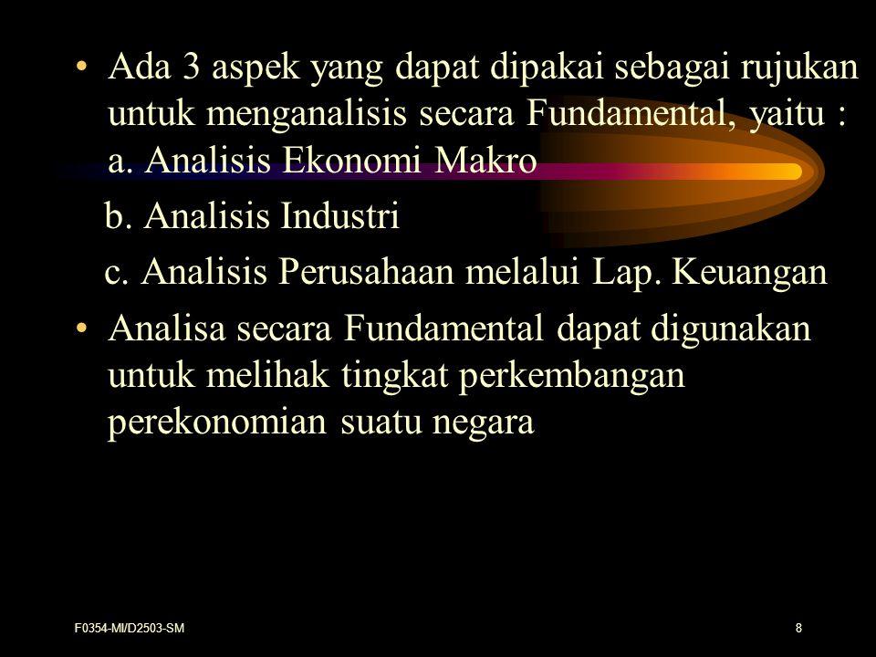 c. Analisis Perusahaan melalui Lap. Keuangan
