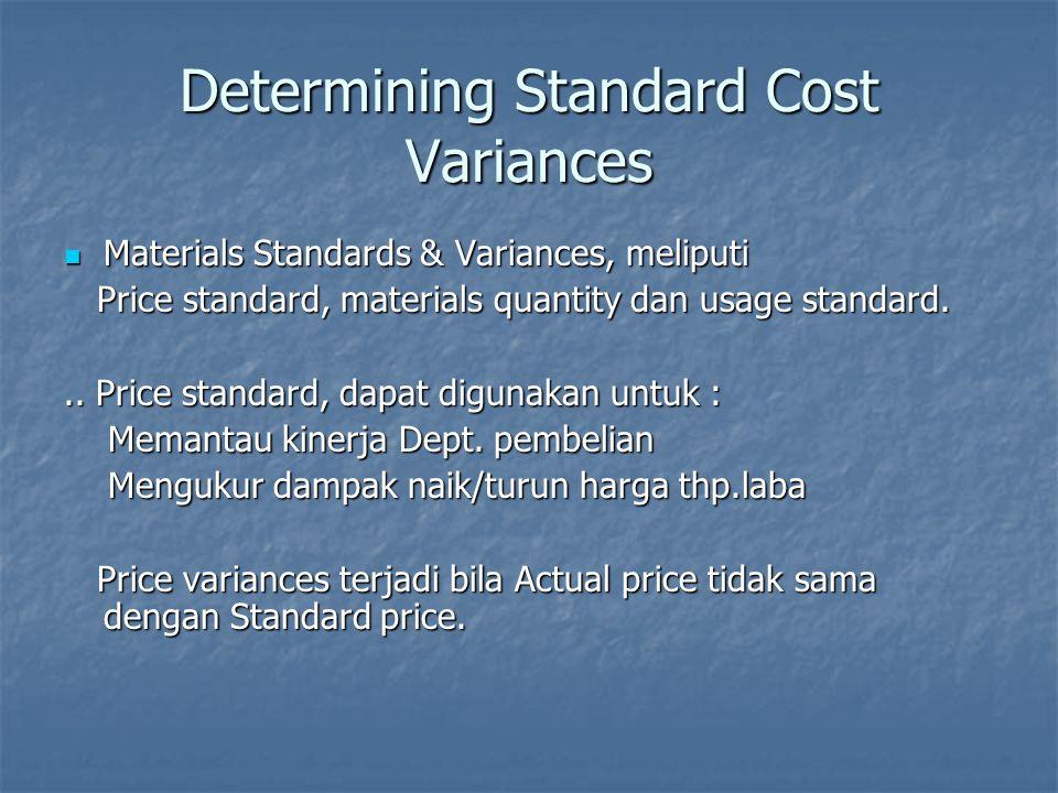 Determining Standard Cost Variances