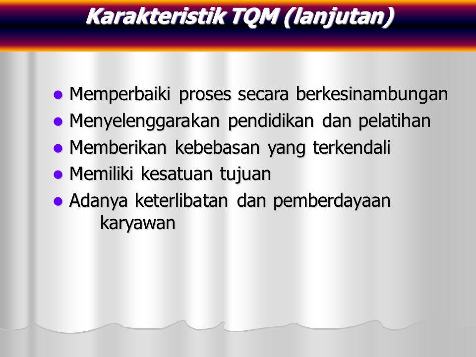 Karakteristik TQM (lanjutan)