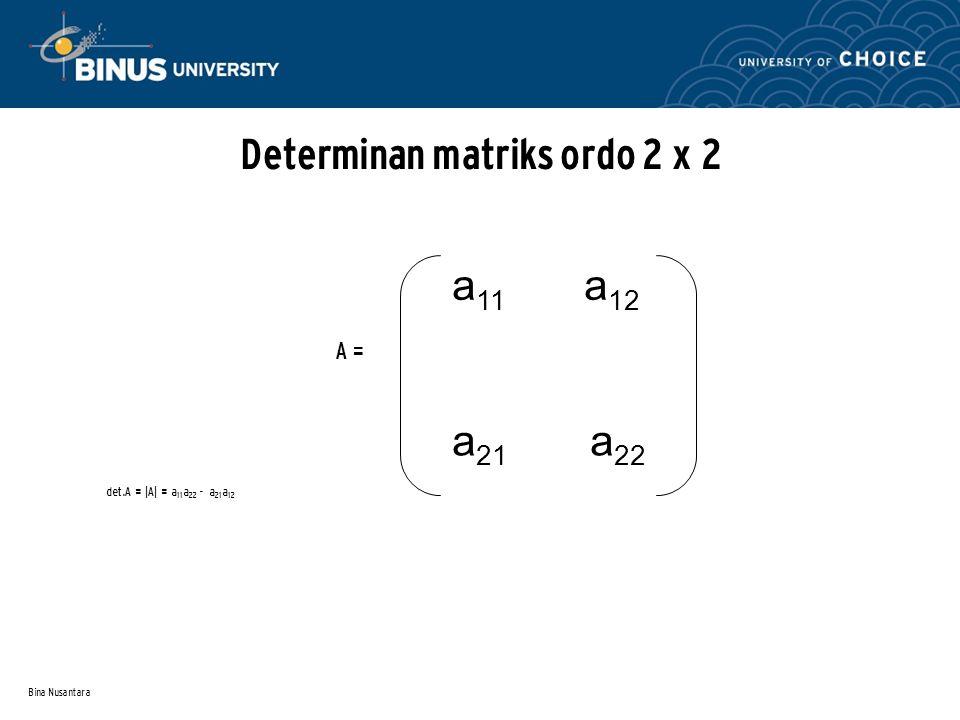 Determinan matriks ordo 2 x 2